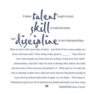Talent Skills Discipline